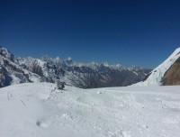 Annapurna view from Himlung camp 2