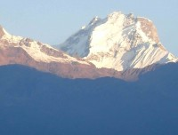 view of Ganesh Himal from Thulo syabru