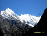 Beautiful view of Langtang Lirung Mountain